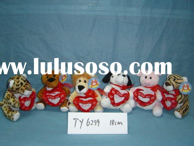 Stuffed valentine plush animal toy(TY6239)