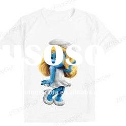 cute kids t-shirt with smurf on it ,newest style