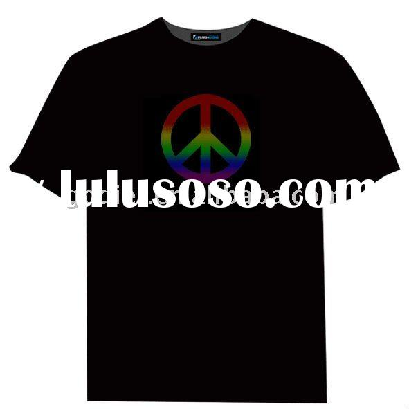 factory supply,T-Qualizer Peace Sign Light Up Shirt,wholesale price, accept paypal
