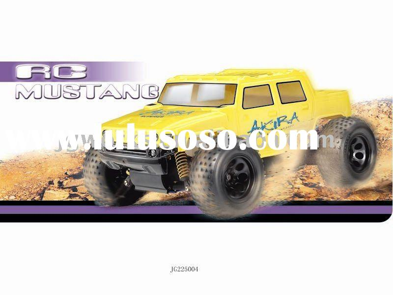 gas powered 1:10 RC Nitro car, nitro engine/yellow green