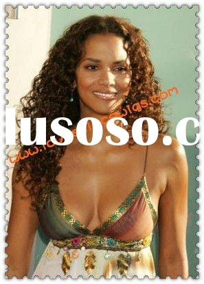halle berry long curly hair styles Indian remy lace front wig