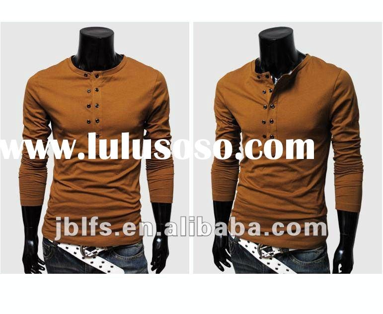 men's fashion long sleeve t shirt