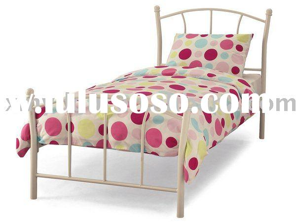 white metal single bed frame ml h15 white metal single bed frame  600 x 450