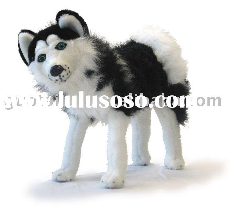 stuffed plush animal toy wolf