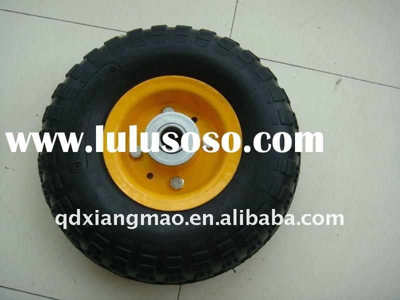 top quality small rubber wagon cart wheels/wheel 3.50-4