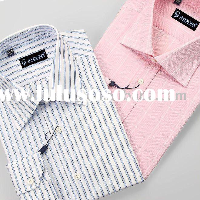 100% cotton stripes dress shirts for men