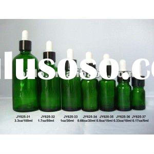 1/6oz,1/3oz,1/2oz,0.5oz, 1oz Green Essential Oil Bottle With Dropper