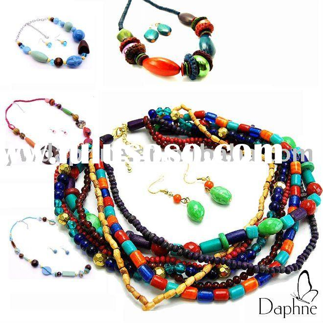 Colored Wooden Bead Necklace 2011 Colorful Wooden Beads