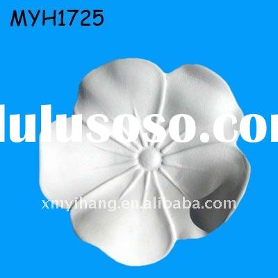 2011 hot new comer resin unpainted flower figurine