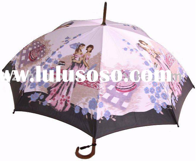 2011 hot sale fashion design married woman straight uv protection rain/sun umbrella