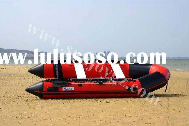 2012 new pvc inflatable air floor motor boat boat trailer