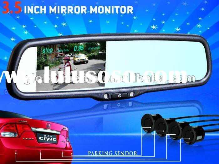 3.5 inch lcd auto dimming rear view mirror with parking sensor and compass AK-035LA7 for Nissan Alti