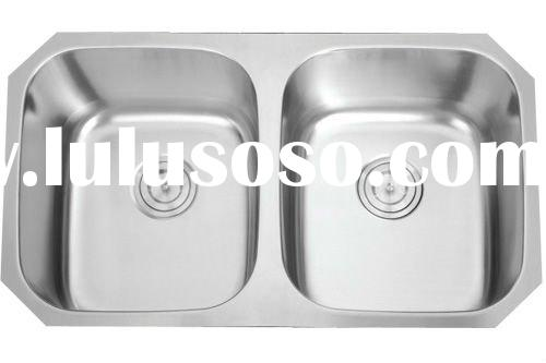 50/50 American Standard Undermount Double Bowl Stainless Steel Sink(cUPC Approved)