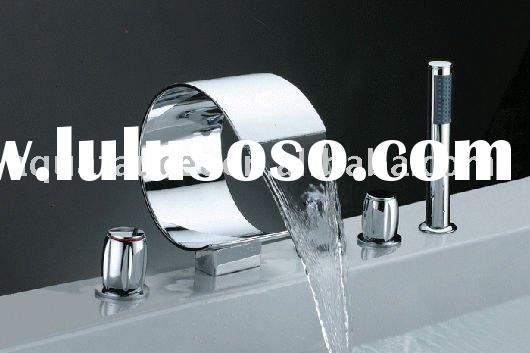 5 holes brass waterfall acrylic whirlpool massage spa bathtub faucet mixer tap