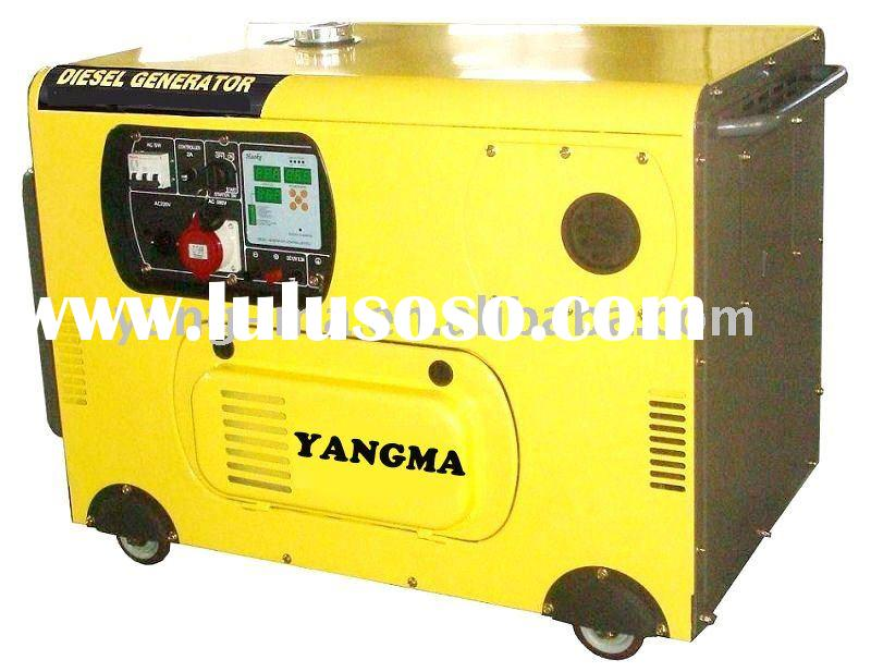 8GF-LDE,8KW-12KW Air cooled V-TWIN engine power electric silent diesel portable generator