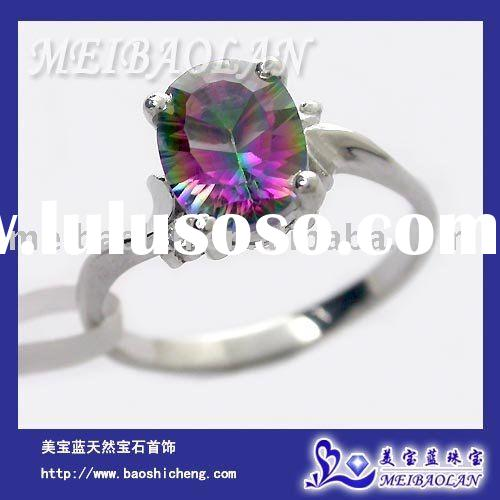 925 STERLING SILVER MYSTIC TOPAZ RING(j0608136agd)