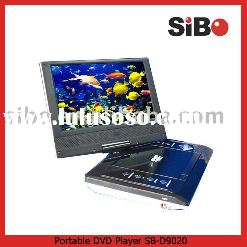 "9"" Portable DVD Player+Mp3+TV+USB+Card Reader+Radio+Divx+MPEG-4"