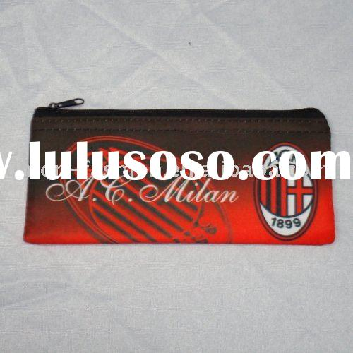 AC Milan FC Football pencil case/soccer pencil case/football club fabric pencil bag/football souveni