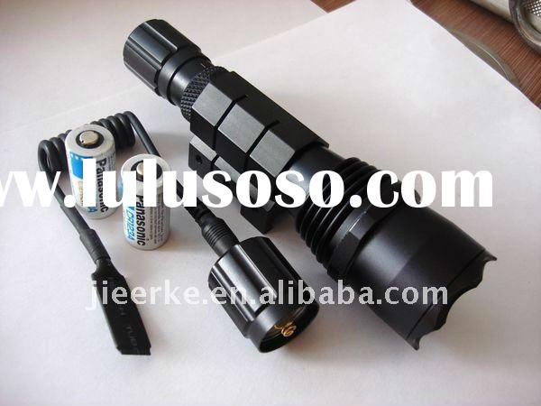 Black 3W USA CREE Q5 LED flashlight with Weaver Mount