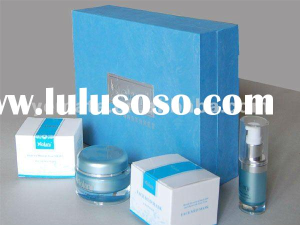 Blue color Cosmetic brands box for cream,korean cosmetic packaging box --CB-5