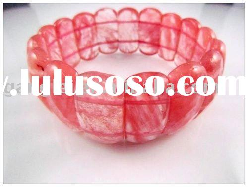 Cherry Quartz natural stone heart shape bangle jewelry bracelet/new design