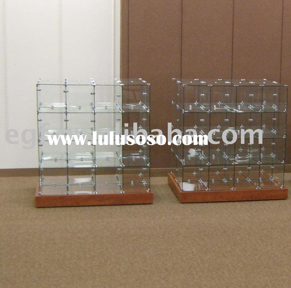 Clothes Display Stand / Garment Display Rack (glass cubes)