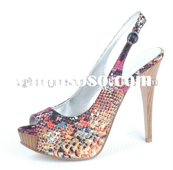 Colouful high heel shoes,China high heels,Name brand high heels