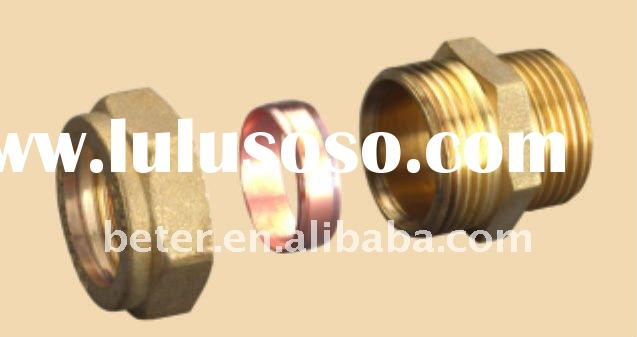 Compression Fitting,Brass Compression Fitting For Copper Pipe,Straight Male