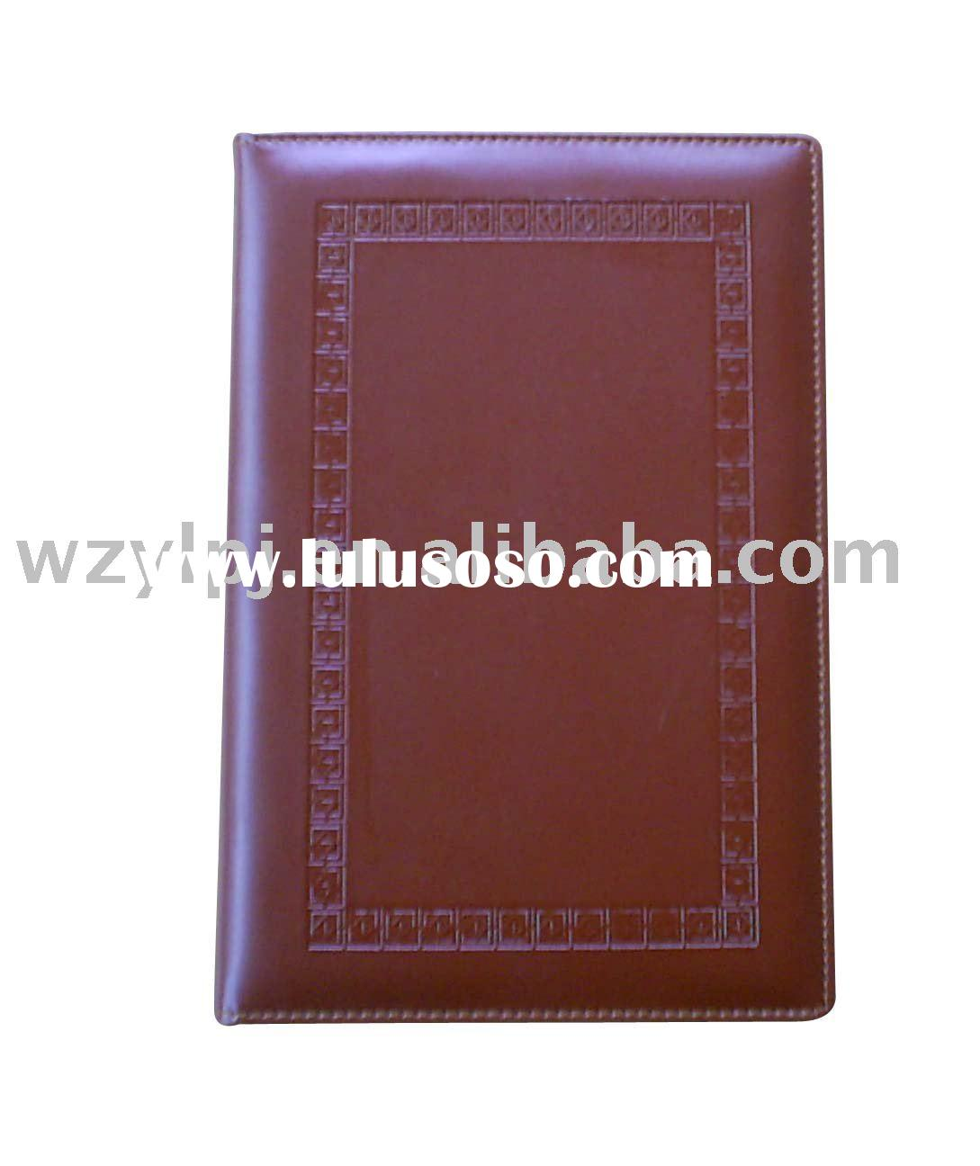 Elegant A5 pu leather diary notebook