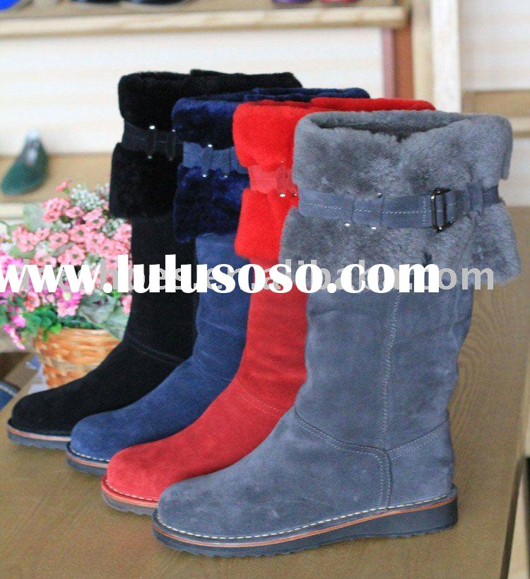 Fashion Women's Snow Boots with double-face wool DSC801-9