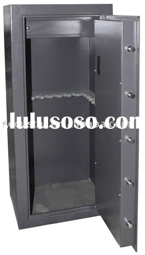 GUN CABINET with 4mm wall .Gun Safe,key operated gun cabinet with high security VDS approved lock,ce