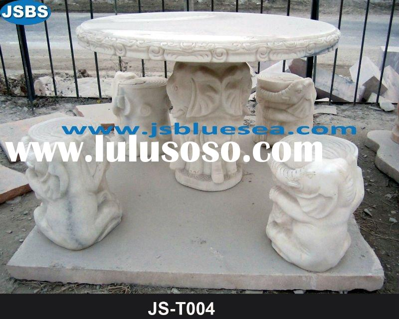 Hand Carved Stone Animal Table