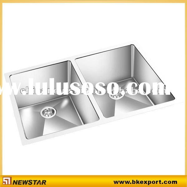 Handmade stainless steel sink with drainer