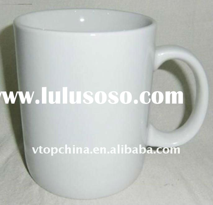High Porcelain Plain White Mug, Super White porcelain Mug