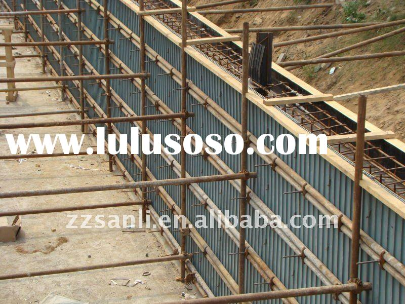Highly recycled plastic formwork panel for concrete and real estate