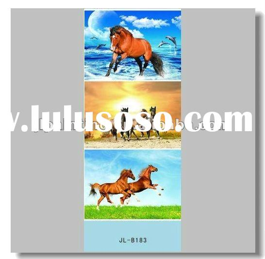 Horse 3d painting/high definition picture of animals /wall decor