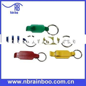 Hot selling new design plastic promotional cheap bottle opener with keychain