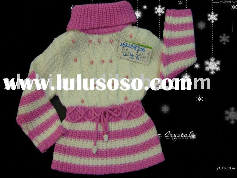 Hottes elegant with high collar child wear,children sweater,kids garment,kids clothing for girl&