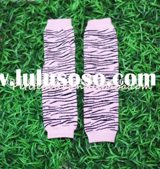 Light Pink Zebra Print Newborn Baby Leg Warmers Leggings MALG18