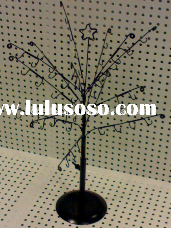 Metal tree jewelry display stand with hooks BN-8087
