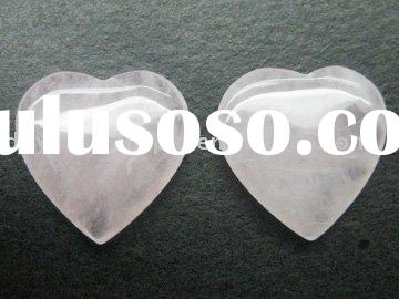 Newest Fashion Natural heart shaped rose quartz stone jewelry