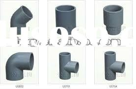 PVC Potable Pipe Connection Metric PVC Pipe Fittings For Bathroom