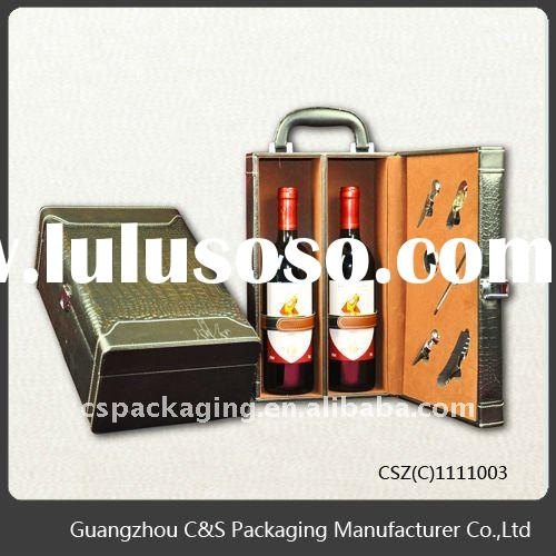 Practical Wooden Wine Box for two bottles
