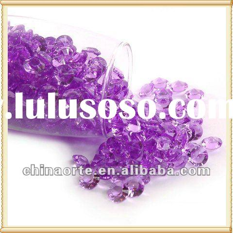Purple Acrylic Diamond Scatters For Wedding Favor