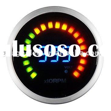 RPM Gauge Auto Meter / Racing Gauge 52mm digital 2 in 1 R.P.M. with Volt