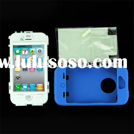 Robot Style Full Protected Silicone Snap-on Hard Anti-dirt Case Cover Skin for iPhone 4 4G KSL019