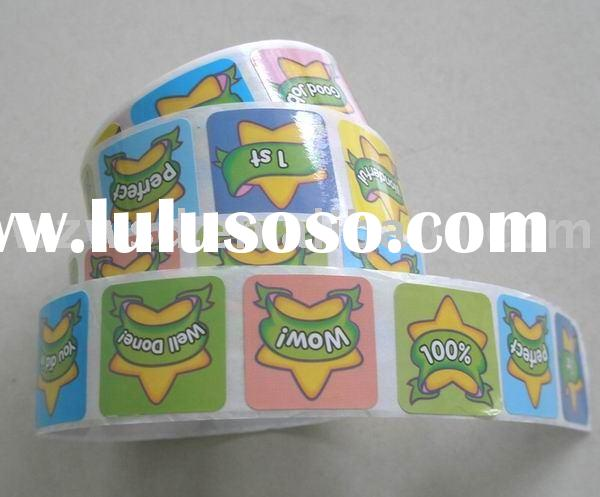 Roll stickers, self-adhesive sticker