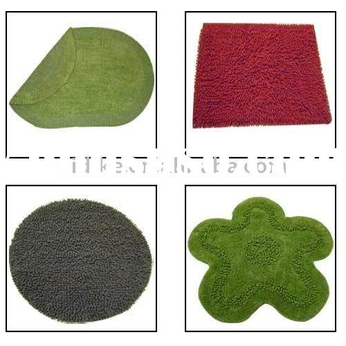 Shaped Bath Mat & Rugs with Latex Backing