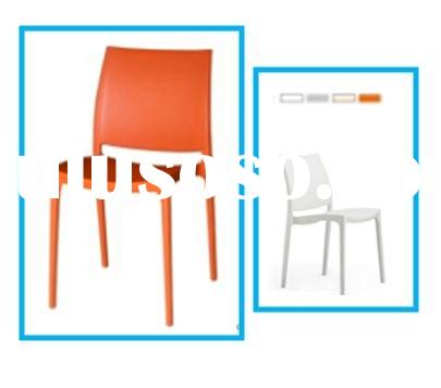 Stackable plastic dining chairs