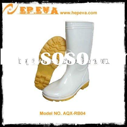 Steel toe cap white rubber boots